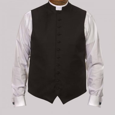Black w/Silk Button & Silk Trim - Custom