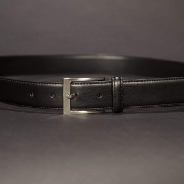 Black Leather Belt, 1.25""