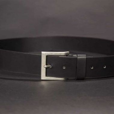 Black Leather Belt, 1.50