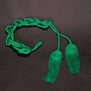 Green Solid Flat Knot Cincture