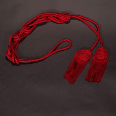 Red Solid Flat Knot Cincture