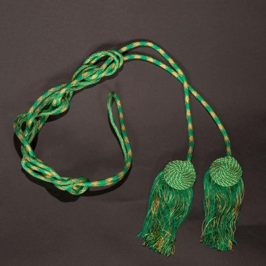 Green / Gold Flat Knot Cincture