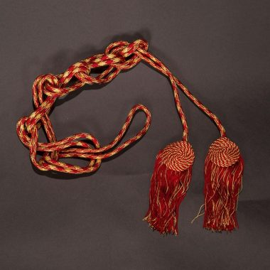 Red / Gold Flat Knot Cincture