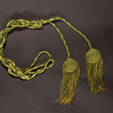 Olive / Gold Flat Knot Cincture