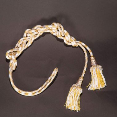 White / Gold Roman Knot Cincture