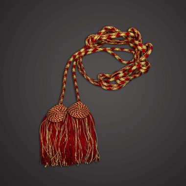 Red / Gold Roman Knot Cincture