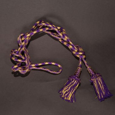 Purple / Gold Roman Knot Cincture