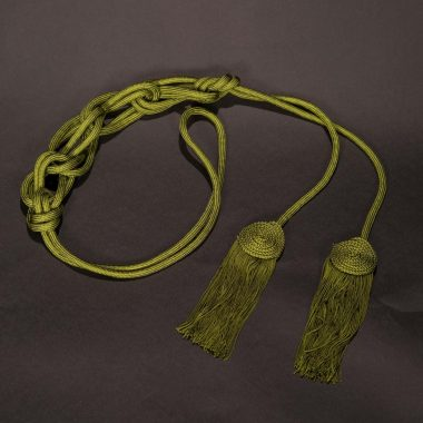 Olive Solid Flat Knot Cincture