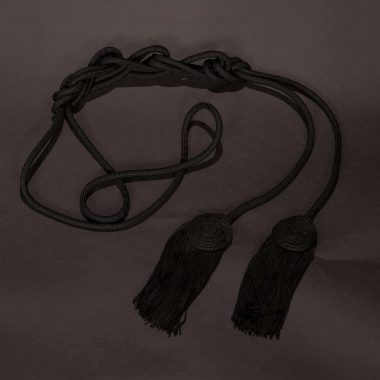 Black Solid Flat Knot Cincture