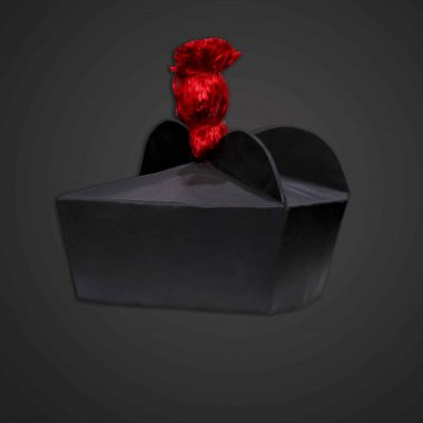 Birettta, Black w/ Red pom