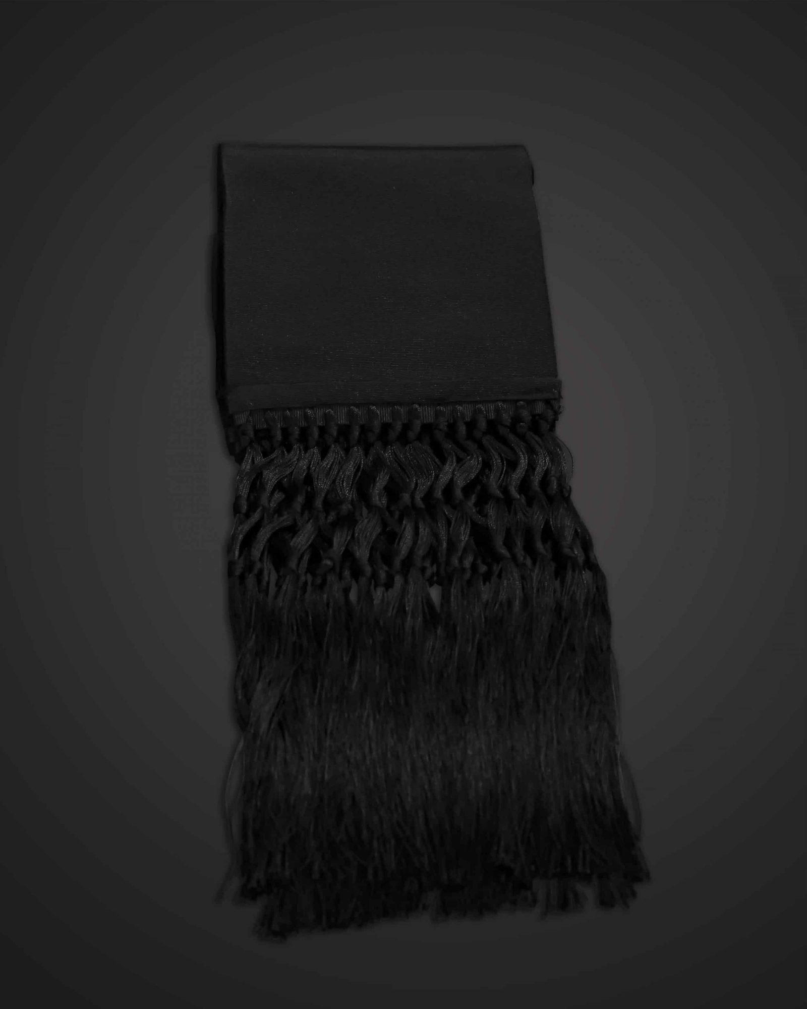 Sash, Black Silk  w/Carrier
