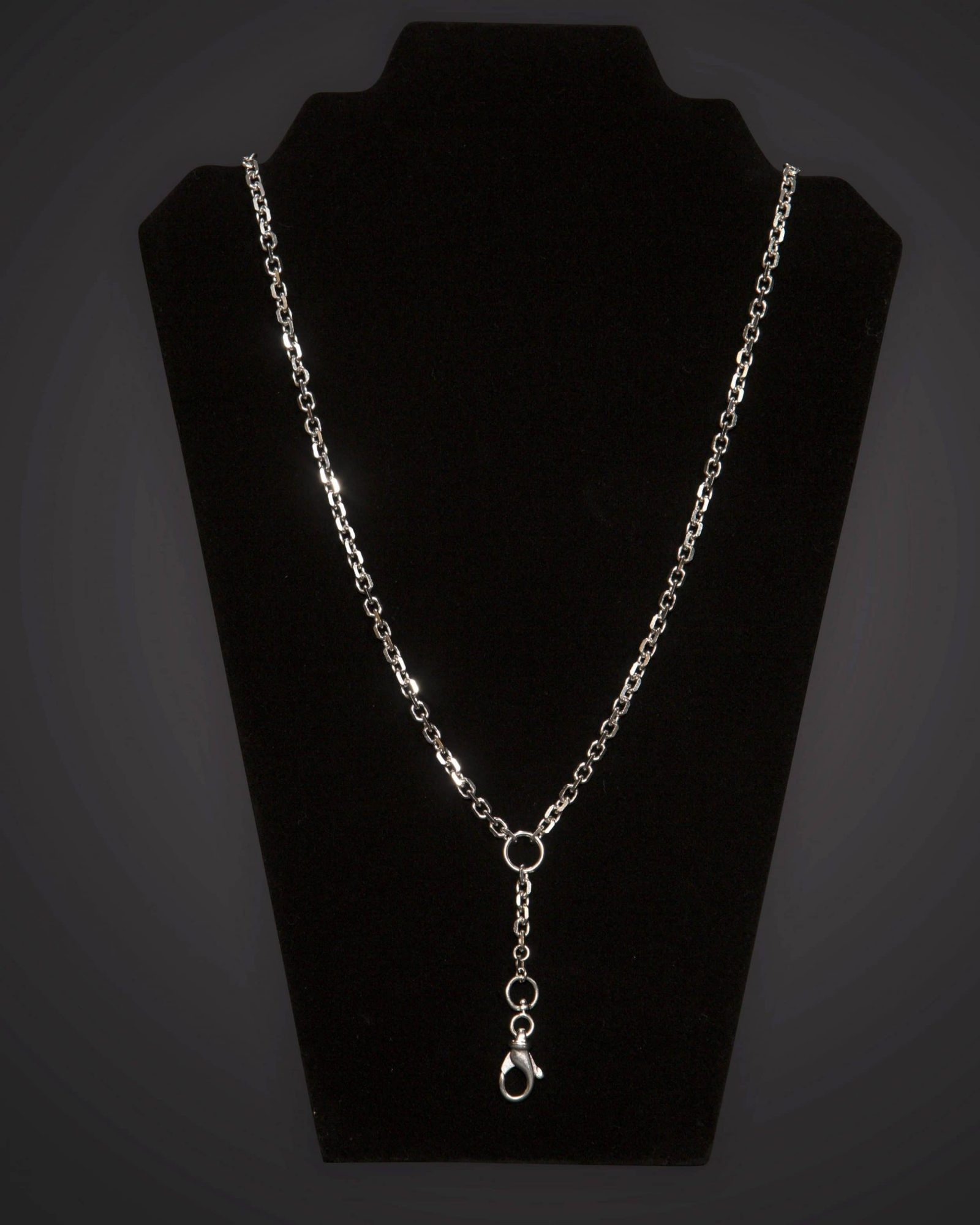 Pectoral Chain - Geo - Long - Silver Plated