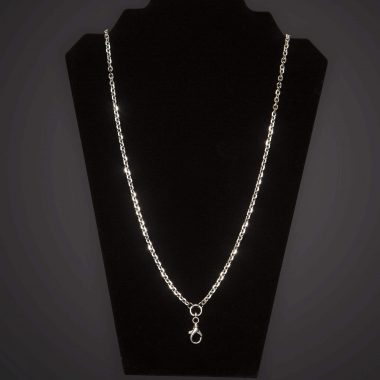 Pectoral Chain - Geo - Short - Silver Plated