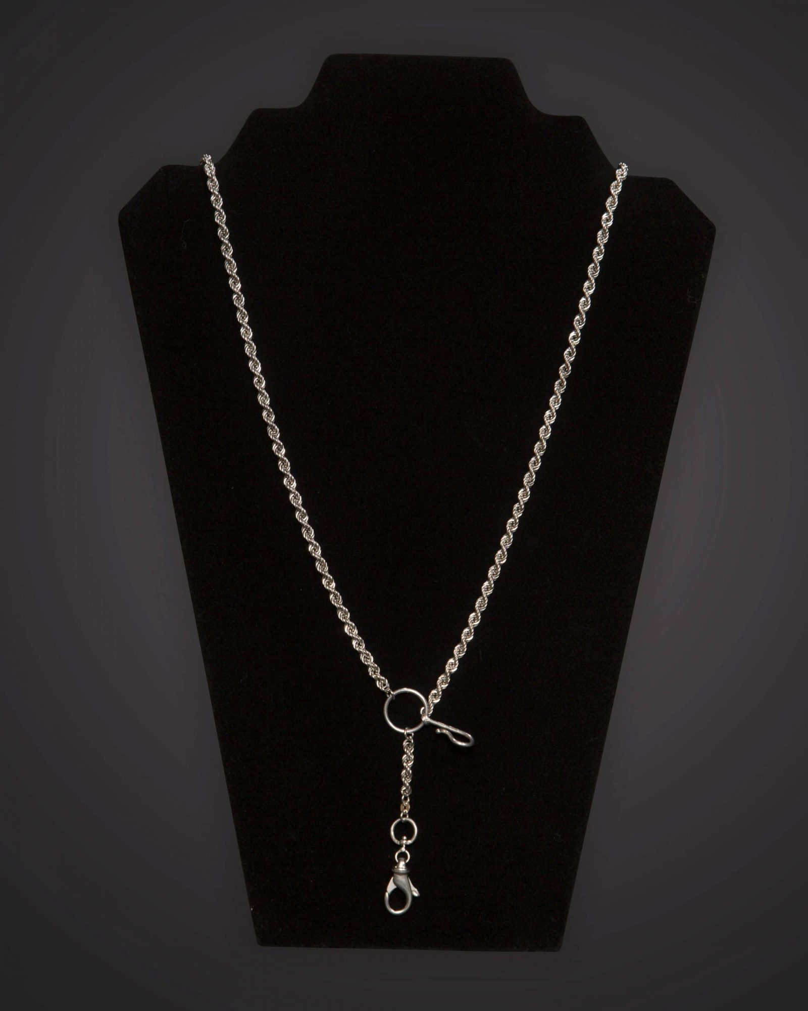 Pectoral Chain - Braided - Long - Silver Plated