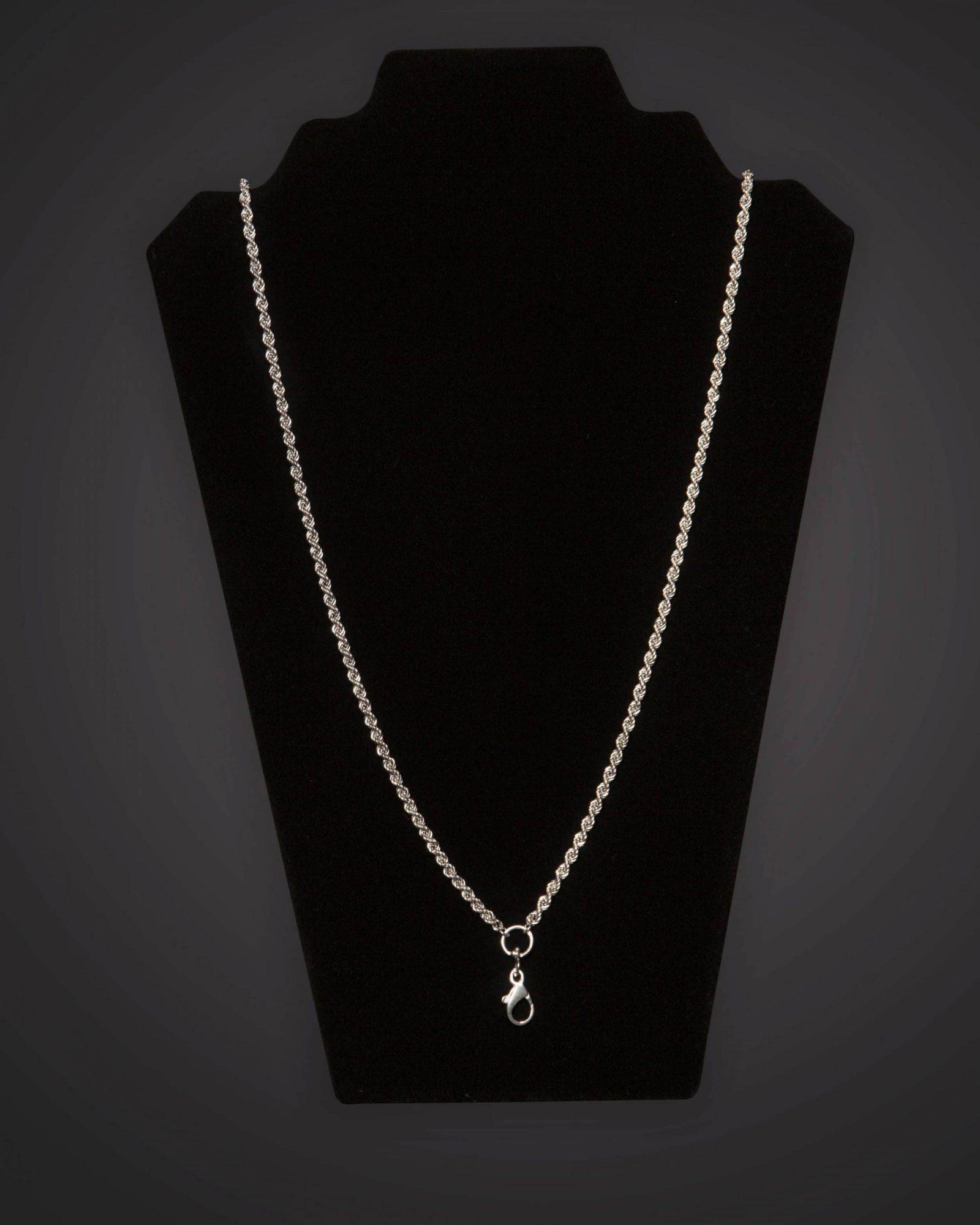 Pectoral Chain - Braided - Short - Silver Plated