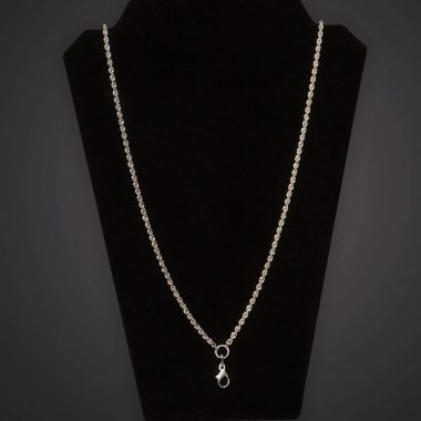 Pectoral Chain - Braided - Short - Silver Plated