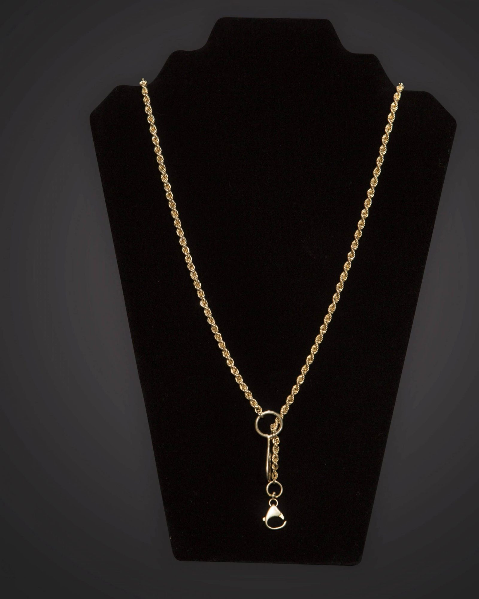 Pectoral Chain - Braided - Long - Gold Plated