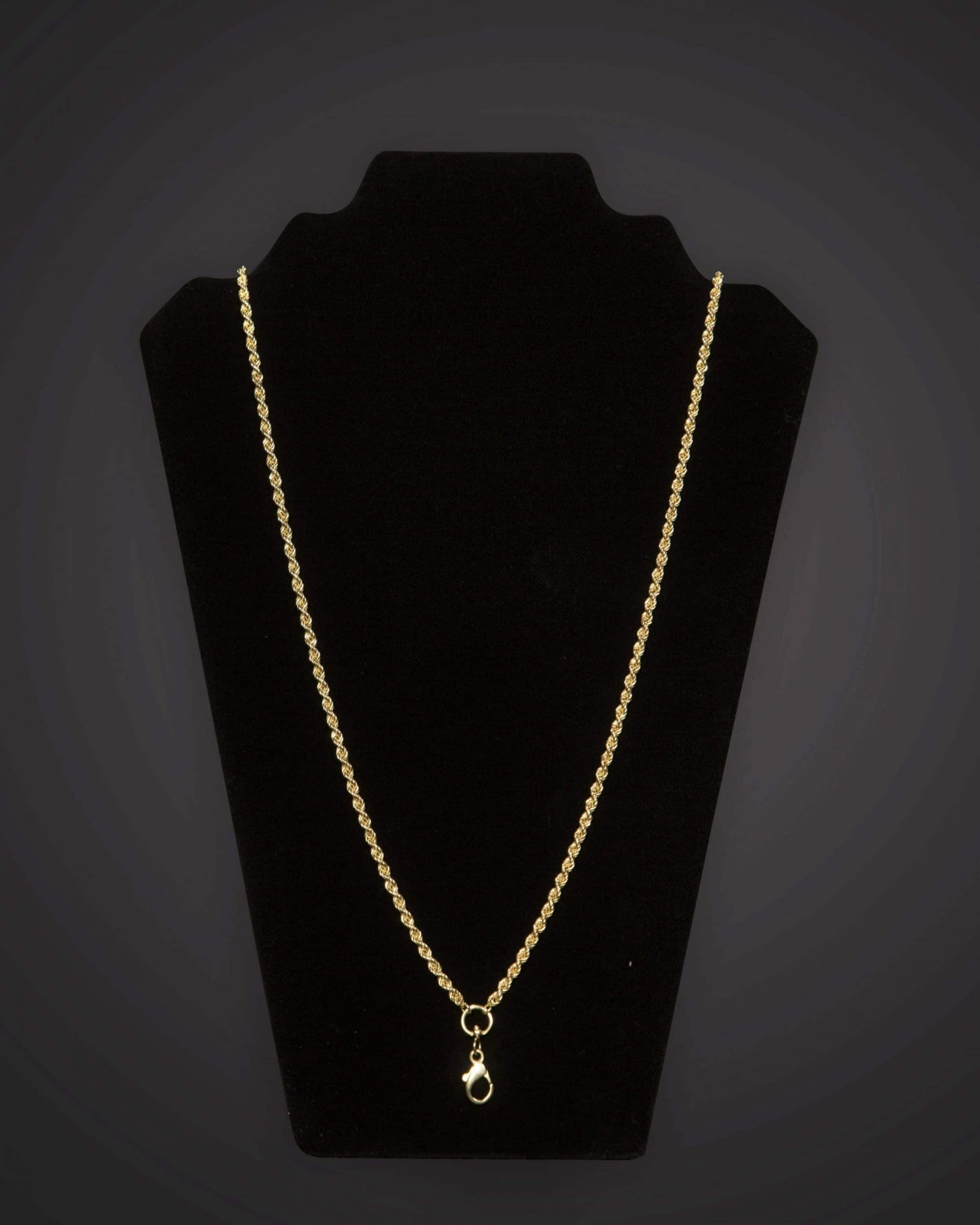Pectoral Chain - Braided - Short - Gold Plated