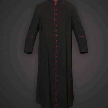 Black Cassock Purple Trim (Msgr Chaplain) - Tela