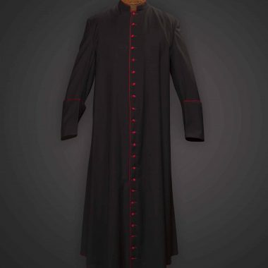 Black Cassock Red Trim (Prelate of Honor) - Tela