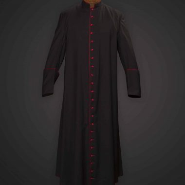 Black Cassock Red Trim (Prelate of Honor) - Apalgatex