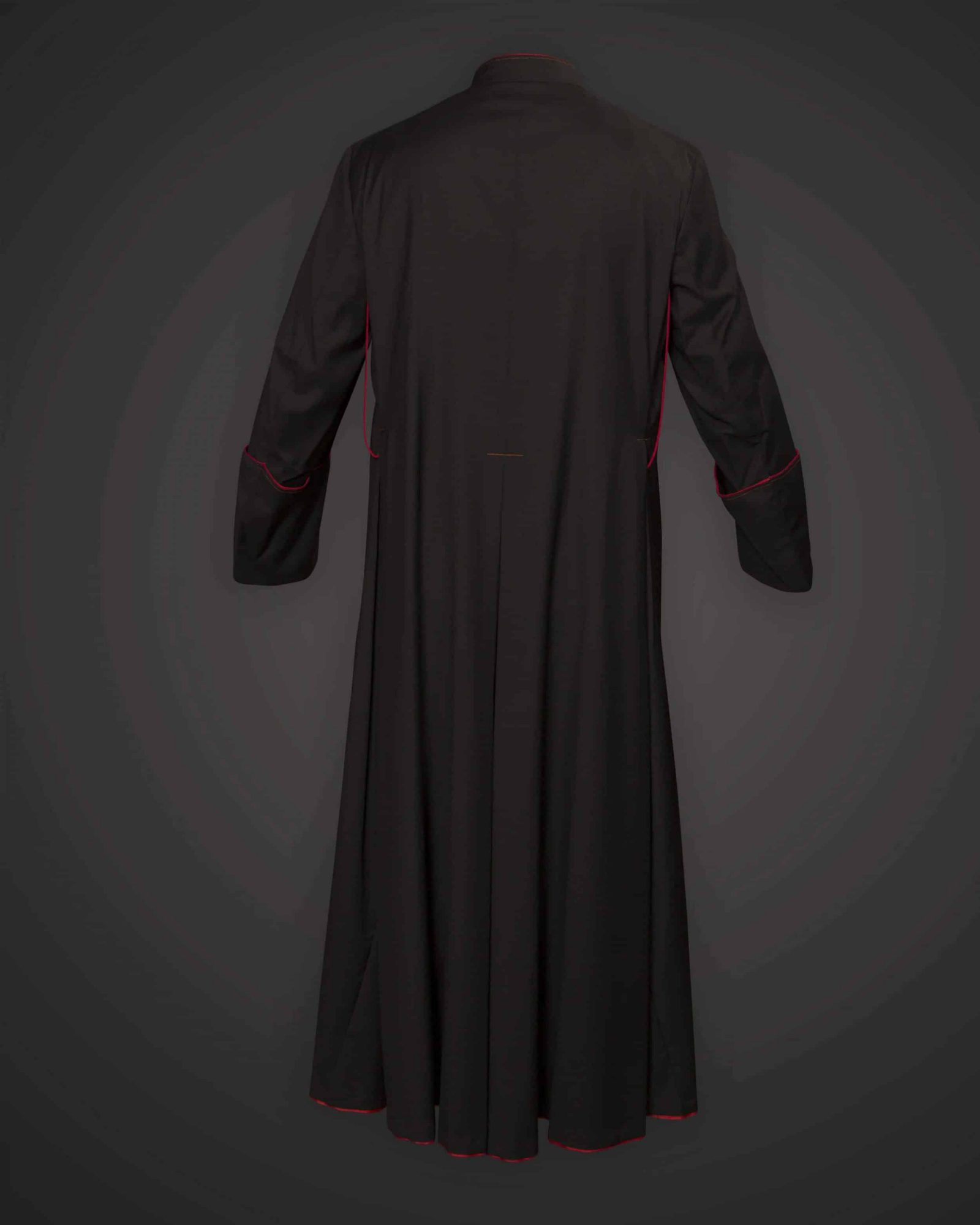 Black Cassock Red Trim (Prelate of Honor) - Serge 996